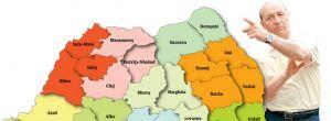 Băsescu vrea împărţirea României pe regiuni până în 2012. Cum ar arăta harta ţării conform proiectului UDMR