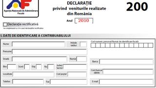 Formularul 200: Aproximativ 700.000 de români trebuie să declare la Fisc până în 16 mai veniturile din 2010