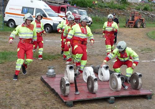 Lotul pompierilor sătmăreni  – locul II la Bistriţa Năsăud