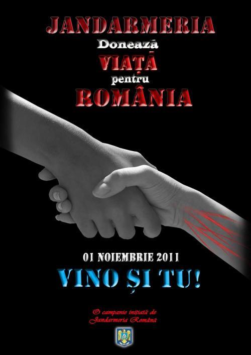 Jandarmii donează viaţă pentru România