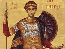 Sfântul Dumitru,Izvorâtorul de Mir