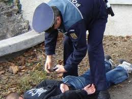 Suspect depistat în flagrant