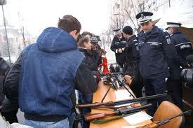 Stand de prezentare a Jandarmeriei la Carei