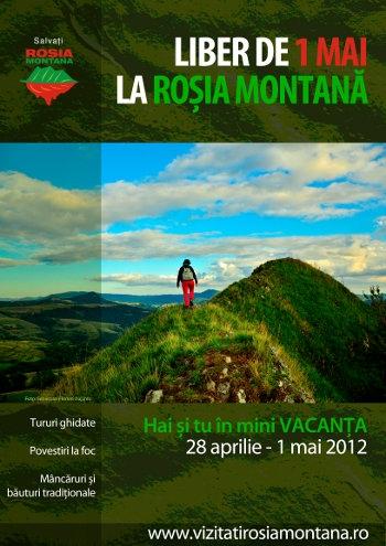 Liber de 1 mai la Roşia Montană