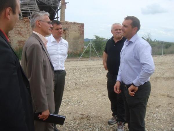 Secretarul de Stat Septimiu Buzaşu verifică stadiul lucrărilor la centura de ocolire