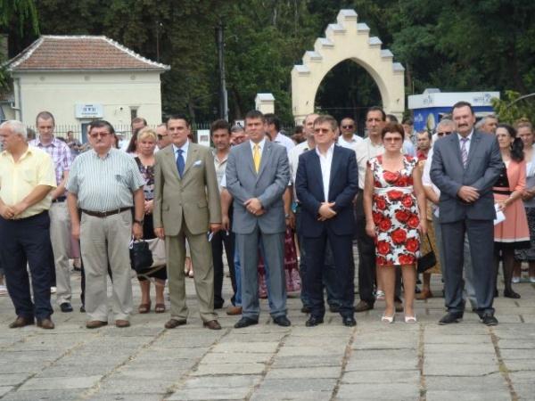 Ministrul Silaghi a sărbătorit Ziua Imnului Naţional la Carei