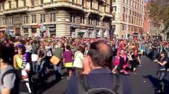 Proteste la Roma împotriva măsurilor de austeritate