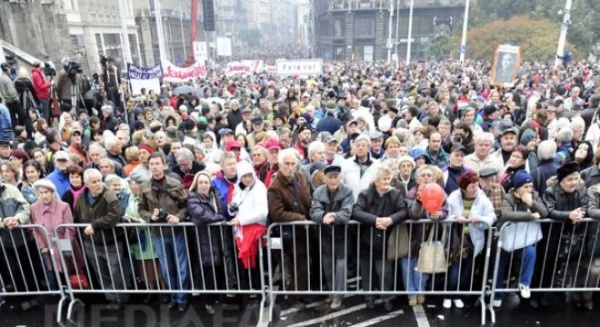 Manifestaţii de amploare în Ungaria