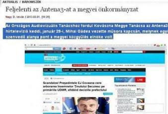 Antena 3, reclamată de CJ Covasna la CNA