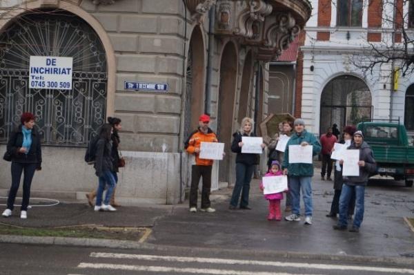 Primul protest stradal împotriva tăierii copacilor