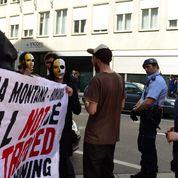 Protest pentru Roşia Montană  la Zurich