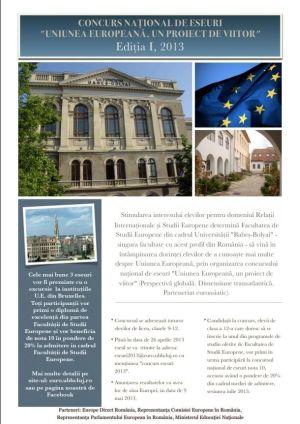 """Ionuţ Sava de la LTC-cel mai bun la Concursul Naţional de eseuri """"UE, un proiect de viitor"""""""