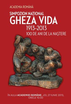 Simpozionul Naţional Gheza Vida – 100 de ani de la naştere