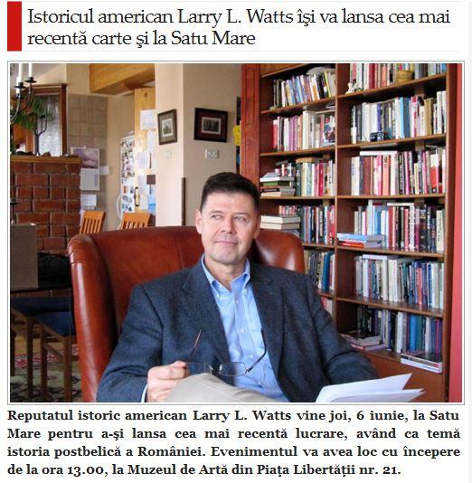 Lansare de carte Larry Watts la Muzeul de Artă
