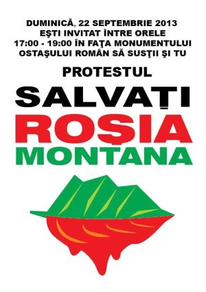 Protest la Carei pentru Roşia Montană