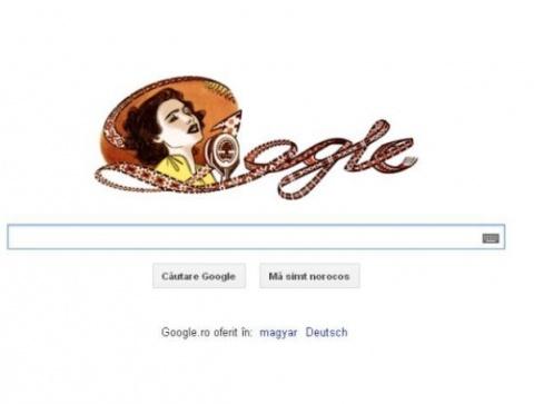 GOOGLE o sărbătoreşte  pe Maria Tănase