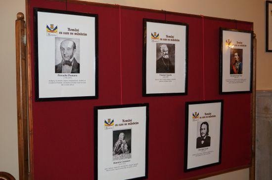 """Expoziție  """"Români cu care ne mândrim"""" la Castel"""
