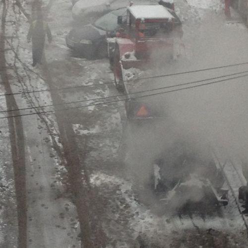 Cititorii ne semnalează….asfaltare pe ninsoare.De azi,pe ger