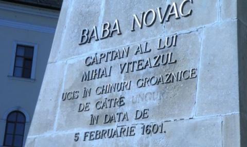 Statuia lui Baba Novac, vandalizată din nou