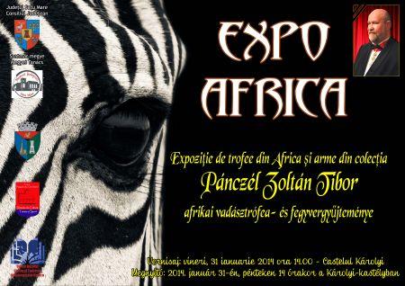 EXPO AFRICA la Carei – Expoziție de trofee africane și arme