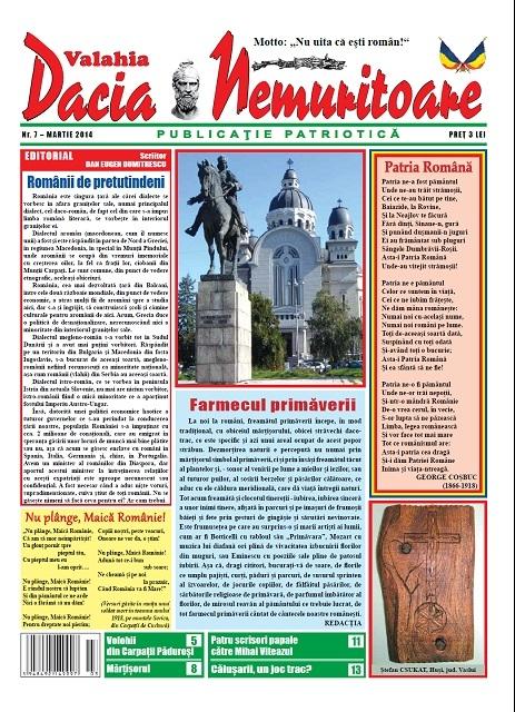 """""""Dacia Nemuritoare"""" la al şaptelea  număr"""