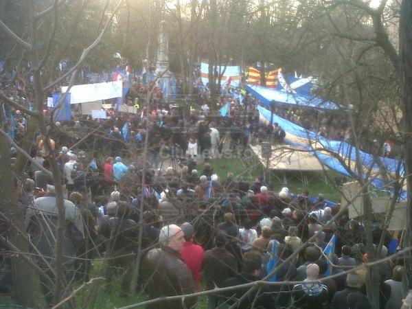 Violenţe în stradă la Târgu Mureş