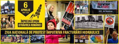 6 aprilie -100 de localităţi din ţară şi 10 orase din străinătate  protestează împotriva exploatării gazelor de şist