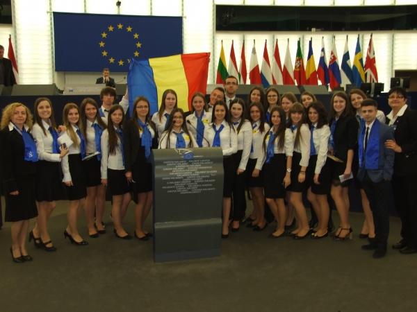 Elevi sătmăreni la Strasbourg