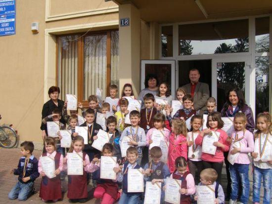 Rezultatele concursului EuroJunior la Şcoala Gimnazială nr.3 Carei