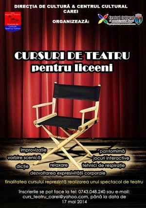Cursuri de teatru pentru liceenii careieni