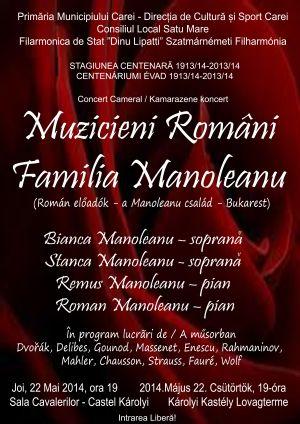 Familia Manoleanu în concert la CAREI