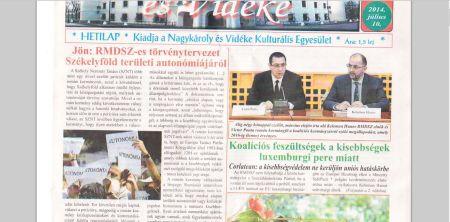 Buletin de Carei a căzut în dizgraţia consilierului personal al primarului UDMR al Careiului. Autonomia  ţine acum capul de afiş
