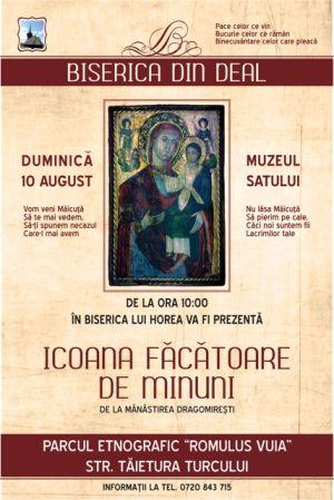 Biserica lui Horea de la Muzeul Etnografic va găzdui Icoana Maicii Domnului de la Mănăstirea Dragomirești