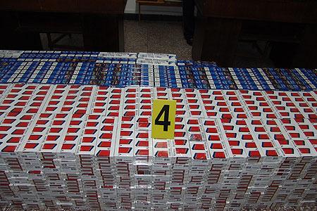 Captură de 7 mii de  ţigarete