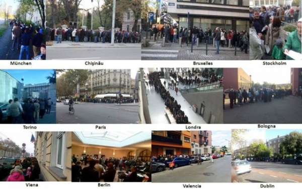 PROTESTE la Paris, Londra, Viena, București. Solidari cu diaspora. Scandal la Ambasada României din Paris