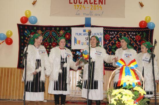 Ziua Naţională sărbătorită la Lucăceni