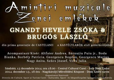 """Concert de muzica usoară """"Amintiri muzicale"""" cu prima generatie a Castelanilor"""