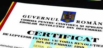 Certificat de revoluţionar obţinut în  2010