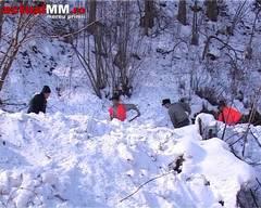 Blocaj în trafic pe DN19 la Huta-Certeze datorita zăpezii şi avalanşelor