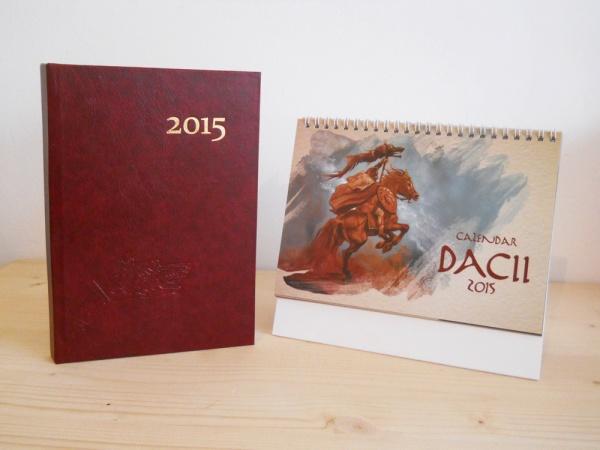 """Pachet promoțional """"Agenda Dacică + Calendar Dacii, 2015"""""""
