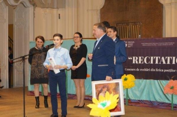 Marele premiu RECITATIO revine la Carei. O poezie a lui Dimitrie Sfura în primă audiţie