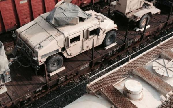 Convoi militar american în România