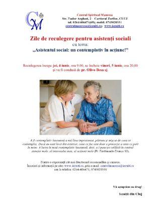 Zile de reculegere pentru asistenţi sociali
