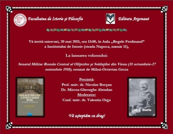 Lansare de carte la UBB Cluj-Napoca