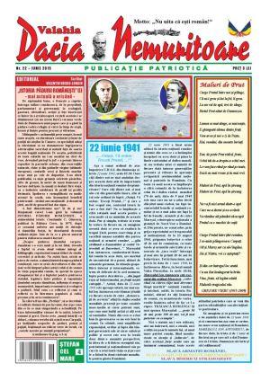 Revista ,,Dacia Nemuritoare'', la numărul 22