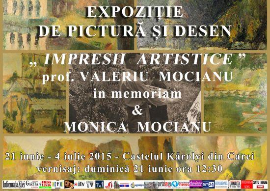 Monica Mocianu expune acasă