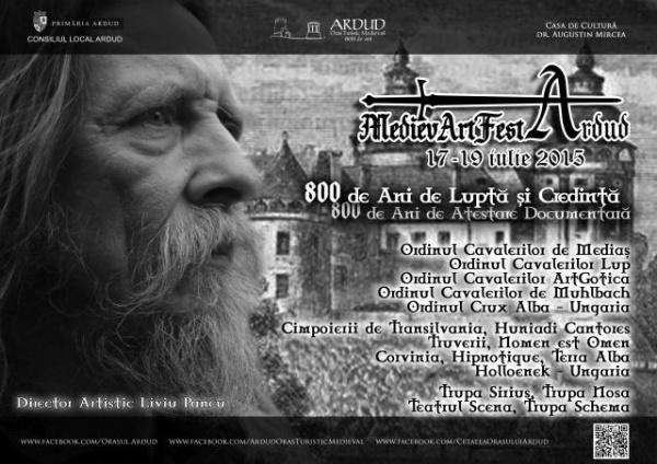 Festivalul MedievArtFest Ardud 2015. Program