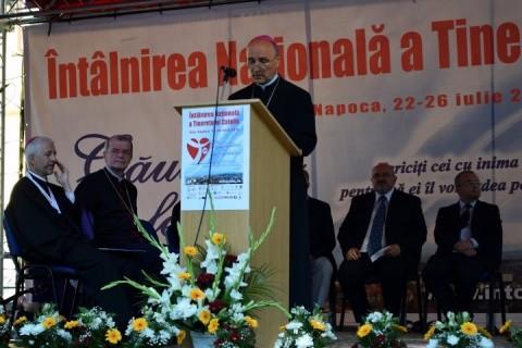 A început întâlnirea naţională a Tineretului Catolic din România la Cluj-Napoca