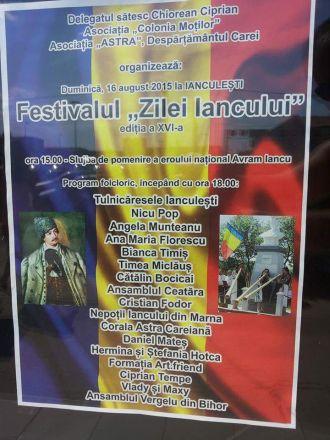 """Festivalul """"Zilele Iancului""""  la a XVI-a ediţie duminică la Ianculeşti. Afişele rupte"""
