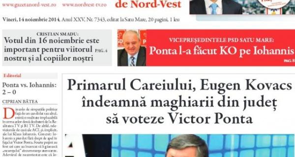 Primarul Careiului îndeamnă maghiarii din judeţ să voteze Victor Ponta. Remember noiembrie 2014